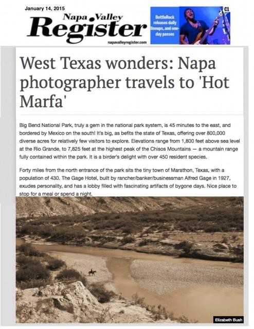 Napa Valley Register Jan 2015